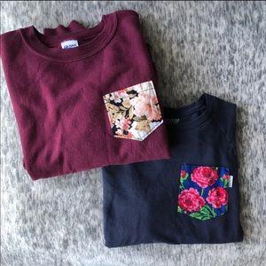 Sweaters - Two (2) Pocket Crewneck Sweatshirts